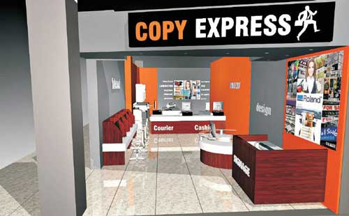 signage courier promotional and business office and printing